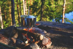 Campfire off the grid